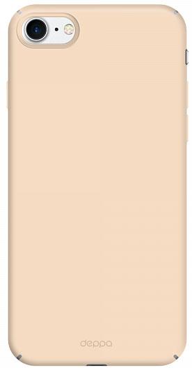 Deppa Air Case чехол для Apple iPhone 7, Gold83270Чехол Deppa Air Case для Apple iPhone 7 - случай редкого сочетания яркости и чувства меры. Это стильная и элегантная деталь вашего образа, которая всегда обращает на себя внимание среди множества вещей. Благодаря покрытию soft touch чехол невероятно приятен на ощупь, поэтому смартфон не хочется выпускать из рук. Ультратонкий чехол (толщиной 1 мм) повторяет контуры самого девайса, при этом готов принимать на себя удары - последствия непрерывного ритма городской жизни.