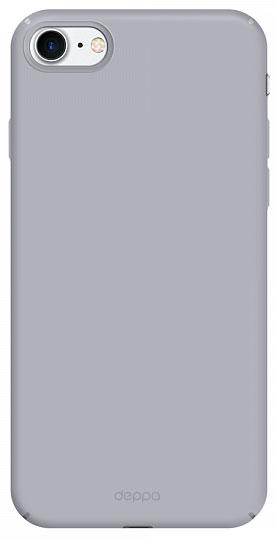 Deppa Air Case чехол для Apple iPhone 7, Silver83268Чехол Deppa Air Case для Apple iPhone 7 - случай редкого сочетания яркости и чувства меры. Это стильная и элегантная деталь вашего образа, которая всегда обращает на себя внимание среди множества вещей. Благодаря покрытию soft touch чехол невероятно приятен на ощупь, поэтому смартфон не хочется выпускать из рук. Ультратонкий чехол (толщиной 1 мм) повторяет контуры самого девайса, при этом готов принимать на себя удары - последствия непрерывного ритма городской жизни.
