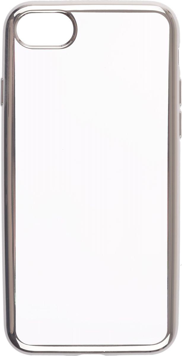 Skinbox 4People Silicone Chrome Border чехол-накладка для Apple iPhone 7, Silver2000000112831Чехол-накладка Skinbox 4People Silicone Chrome Border для Apple iPhone 7 обеспечивает надежную защиту корпуса смартфона от механических повреждений и надолго сохраняет его привлекательный внешний вид. Накладка выполнена из высококачественного силикона, плотно прилегает и не скользит в руках. Чехол также обеспечивает свободный доступ ко всем разъемам и клавишам устройства.