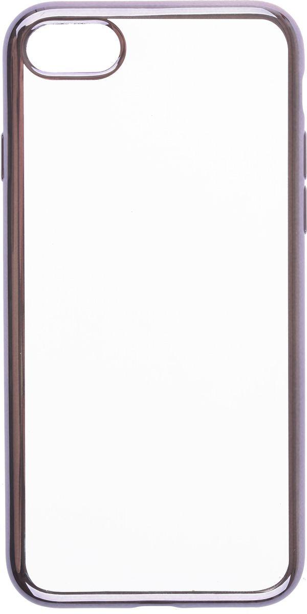 Skinbox 4People Silicone Chrome Border чехол-накладка для Apple iPhone 7, Dark Silver2000000112824Чехол-накладка Skinbox 4People Silicone Chrome Border для Apple iPhone 7 обеспечивает надежную защиту корпуса смартфона от механических повреждений и надолго сохраняет его привлекательный внешний вид. Накладка выполнена из высококачественного силикона, плотно прилегает и не скользит в руках. Чехол также обеспечивает свободный доступ ко всем разъемам и клавишам устройства.