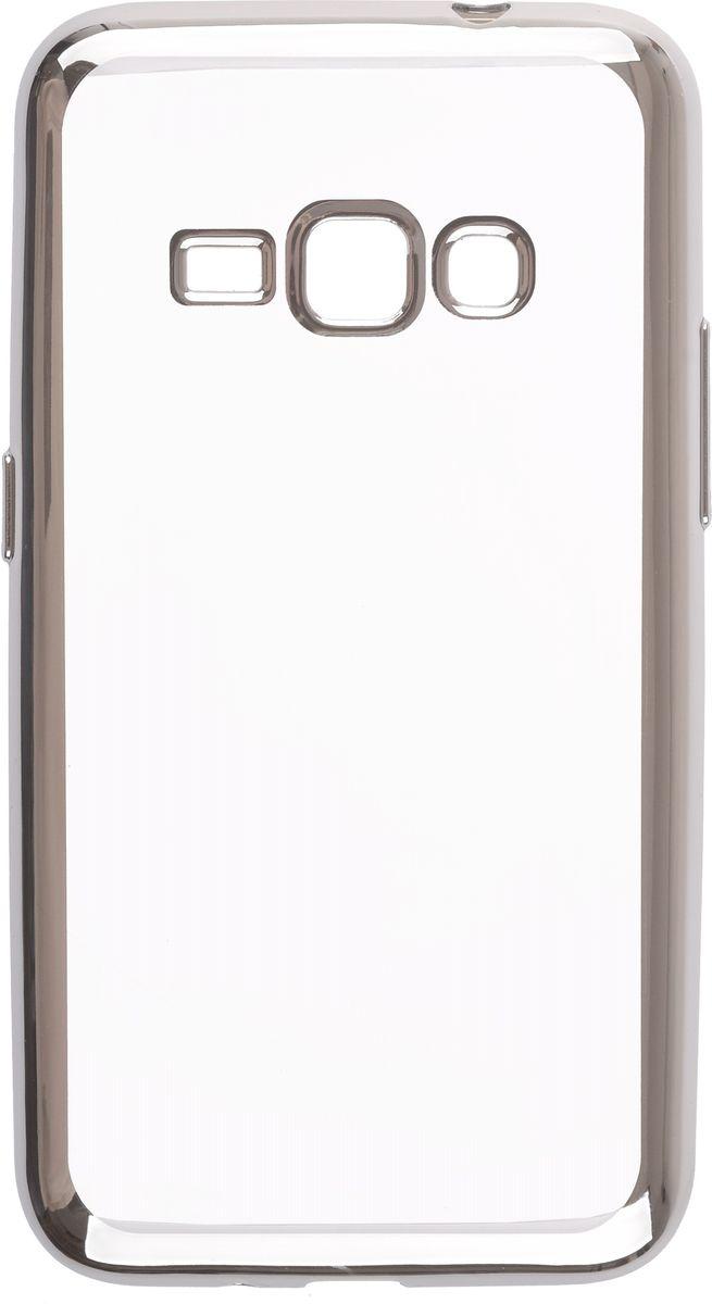 Skinbox 4People Silicone Chrome Border чехол-накладка для Samsung Galaxy J1 mini (2016), Silver2000000105505Чехол-накладка Skinbox 4People Silicone Chrome Border для Samsung Galaxy J1 mini (2016) обеспечивает надежную защиту корпуса смартфона от механических повреждений и надолго сохраняет его привлекательный внешний вид. Накладка выполнена из высококачественного силикона, плотно прилегает и не скользит в руках. Чехол также обеспечивает свободный доступ ко всем разъемам и клавишам устройства.