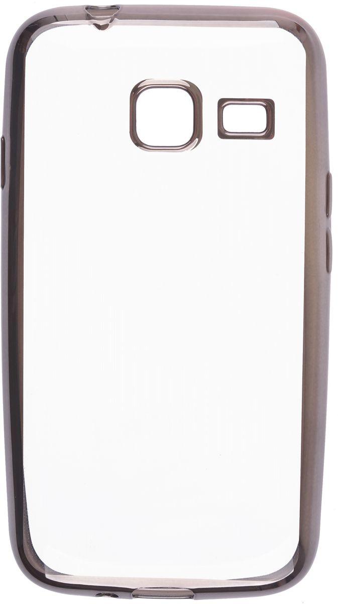Skinbox 4People Silicone Chrome Border чехол-накладка для Samsung Galaxy J1 mini (2016), Dark Silver2000000105529Чехол-накладка Skinbox 4People Silicone Chrome Border для Samsung Galaxy J1 mini (2016) обеспечивает надежную защиту корпуса смартфона от механических повреждений и надолго сохраняет его привлекательный внешний вид. Накладка выполнена из высококачественного силикона, плотно прилегает и не скользит в руках. Чехол также обеспечивает свободный доступ ко всем разъемам и клавишам устройства.