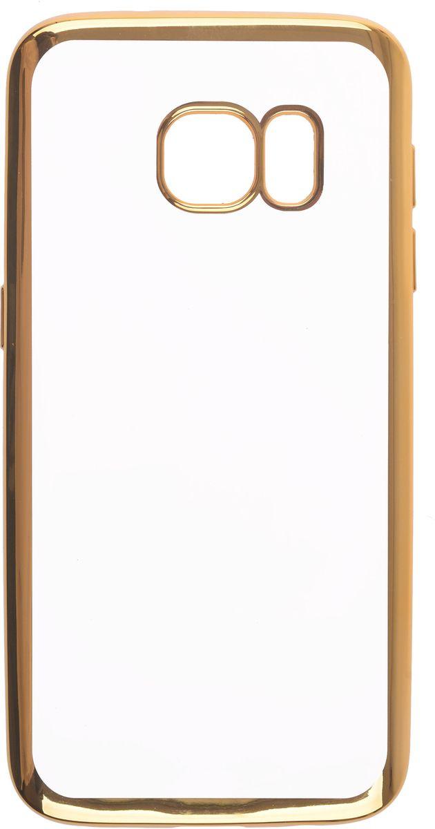 Skinbox 4People Silicone Chrome Border чехол-накладка для Samsung Galaxy S7, Gold2000000105666Чехол-накладка Skinbox 4People Silicone Chrome Border для Samsung Galaxy S7 обеспечивает надежную защиту корпуса смартфона от механических повреждений и надолго сохраняет его привлекательный внешний вид. Накладка выполнена из высококачественного силикона, плотно прилегает и не скользит в руках. Чехол также обеспечивает свободный доступ ко всем разъемам и клавишам устройства.