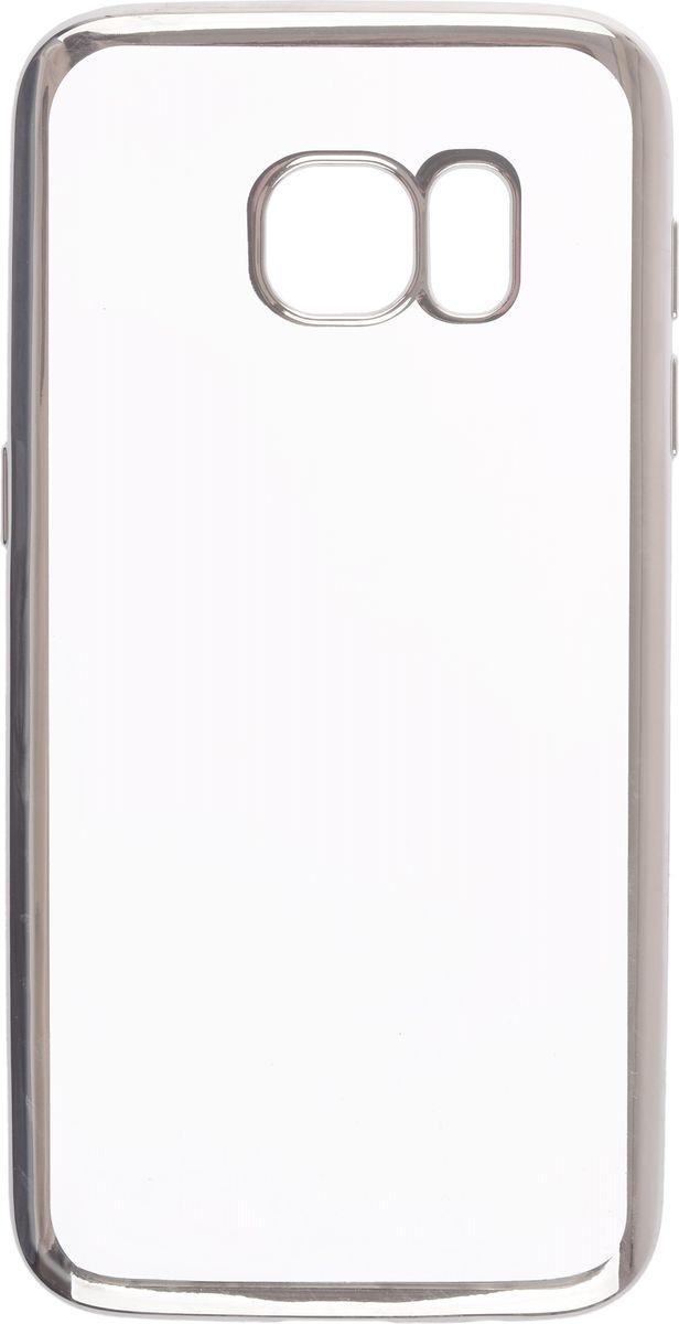 Skinbox 4People Silicone Chrome Border чехол-накладка для Samsung Galaxy S7, Silver2000000109Чехол-накладка Skinbox 4People Silicone Chrome Border для Samsung Galaxy S7 обеспечивает надежную защиту корпуса смартфона от механических повреждений и надолго сохраняет его привлекательный внешний вид. Накладка выполнена из высококачественного силикона, плотно прилегает и не скользит в руках. Чехол также обеспечивает свободный доступ ко всем разъемам и клавишам устройства.