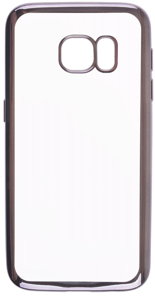 Skinbox 4People Silicone Chrome Border чехол-накладка для Samsung Galaxy S7, Dark Silver2000000105673Чехол-накладка Skinbox 4People Silicone Chrome Border для Samsung Galaxy S7 обеспечивает надежную защиту корпуса смартфона от механических повреждений и надолго сохраняет его привлекательный внешний вид. Накладка выполнена из высококачественного силикона, плотно прилегает и не скользит в руках. Чехол также обеспечивает свободный доступ ко всем разъемам и клавишам устройства.