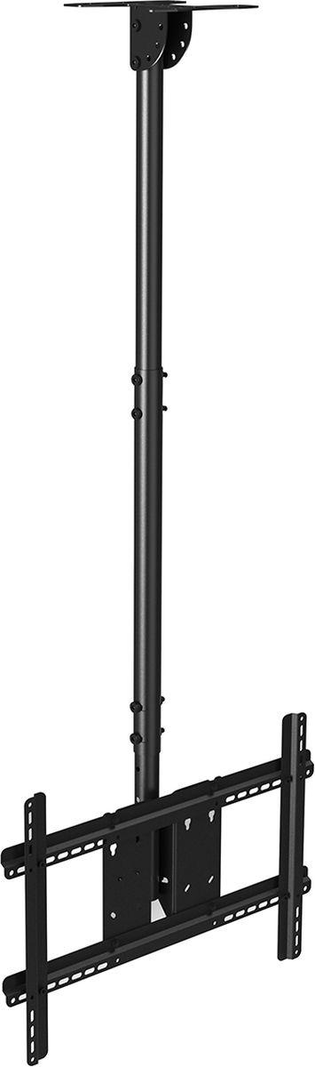 North Bayou NB T560-15, Black кронштейнNB T560-15 чёрныйПотолочный наклонно-поворотный кронштейн с регулировкой по высоте North Bayou NB T560-15 подходит для телевизоров с диагональю 32-57 и с весом до 68,2 кг. Он позволяет без особых усилий изменять высоту телевизора в диапазоне от 72,5 до 150,5 см и угол наклона от -5° до +16°. Особая конструкция позволяет вращать кронштейн на 30°. Интегрированный в корпус кабель-канал позволяет спрятать и зафиксировать провода для удобства и эстетической красоты.