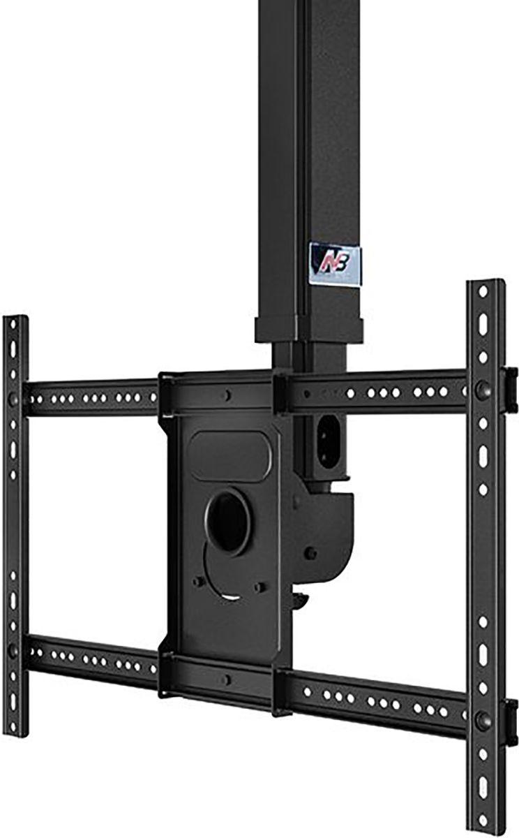 North Bayou NB T3260, Black кронштейнNB T3260 чёрныйТелескопический потолочный наклонно-поворотный кронштейн с регулировкой по высоте North Bayou NB T3260 подходит для телевизоров с диагональю 32-60 и с весом до 45,5 кг. Он позволяет без особых усилий изменять высоту телевизора в диапазоне от 90 до 150 см и угол наклона от -20° до +2°. Особая конструкция позволяет вращать кронштейн на 360° вокруг своей оси. Интегрированный в телескопический корпус кабель-канал позволяет спрятать и зафиксировать провода для удобства и эстетической красоты.
