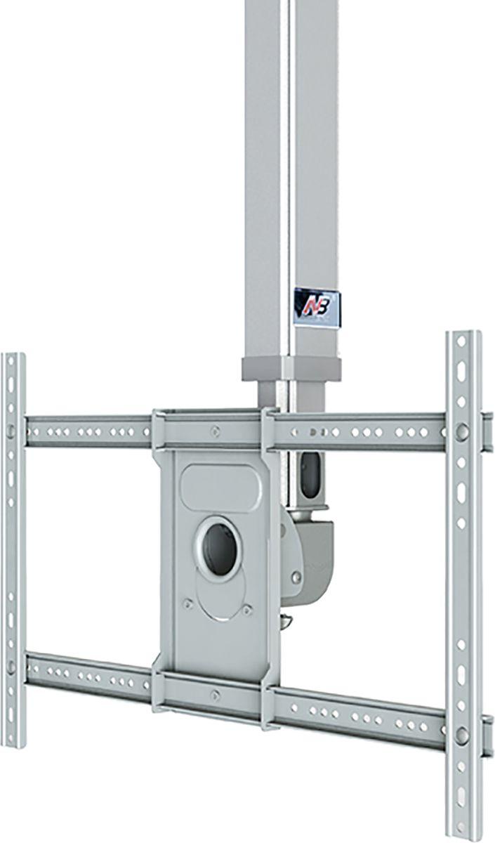 North Bayou NB T3260, Silver кронштейнNB T3260 серебристыйТелескопический потолочный наклонно-поворотный кронштейн с регулировкой по высоте North Bayou NB T3260 подходит для телевизоров с диагональю 32-60 и с весом до 45,5 кг. Он позволяет без особых усилий изменять высоту телевизора в диапазоне от 90 до 150 см и угол наклона от -20° до +2°. Особая конструкция позволяет вращать кронштейн на 360° вокруг своей оси. Интегрированный в телескопический корпус кабель-канал позволяет спрятать и зафиксировать провода для удобства и эстетической красоты.