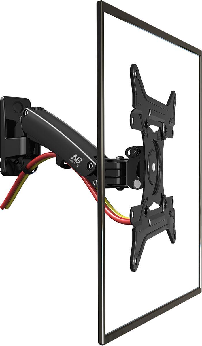 North Bayou NB F200, Black кронштейнNB F200 чёрныйКронштейн North Bayou NB F200 - это металлическая конструкция для крепления LED/LCD телевизоров с возможностью изменения угла наклона от -50 до +30° и поворота на 180°. Амплитуда вертикального перемещения составляет 210 мм. Надежная модель выполнена по классической схеме: задняя рамка монтируется на стену при помощи дюбелей или анкерных болтов. Передняя панель закрепляется на телевизоре, затем устанавливается на настенную рамку. Встроенная в конструкцию газовая пружина позволяет регулировать кронштейн по высоте с фиксацией в нужном положении, без применения дополнительных инструментов.