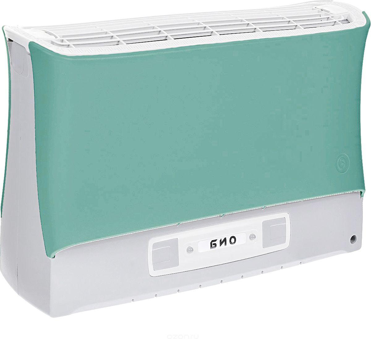 Супер Плюс Био очиститель воздуха, цвет зеленыйСупер-Плюс-Био зеленыйВоздухоочиститель Супер Плюс Био состоит из двух основных частей: корпуса, и кассеты. Кассета в прибор вставляется сверху и фиксируется защелками. На передней части прибора расположена панель управления прибором. Рекомендуемое рабочее положение прибора - вертикальное. Работа прибора основана на принципе ионного ветра, который возникает в результате коронного разряда и обеспечивает движение потока воздуха через кассету прибора, при этом частицы аэрозоля (пыль, дым, микроорганизмы), загрязняющие воздух, всасываются вместе с воздухом в кассету приобретая электрический заряд и под действием электростатического поля прилипают к осадительным пластинам, расположенным внутри кассеты. Воздух, проходящий через кассету, дополнительно обрабатывается озоном, образующимся в зоне коронного разряда, его количество заметно меньше предельно допустимой концентрации, но все же достаточно для того, чтобы в помещении, в котором работает прибор, уничтожались неприятные...
