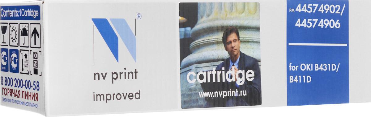 NV Print 44574902/44574906, Black тонер-картридж для Oki B431D/B411DNV-44574906/44574902Совместимый лазерный картридж NV Print 44574902/44574906 для печатающих устройств Oki - это альтернатива приобретению оригинальных расходных материалов. При этом качество печати остается высоким. Картридж обеспечивает повышенную чёткость чёрного текста и плавность переходов оттенков серого цвета и полутонов, позволяет отображать мельчайшие детали изображения. Лазерные принтеры, копировальные аппараты и МФУ являются более выгодными в печати, чем струйные устройства, так как лазерных картриджей хватает на значительно большее количество отпечатков, чем обычных. Для печати в данном случае используются не чернила, а тонер.