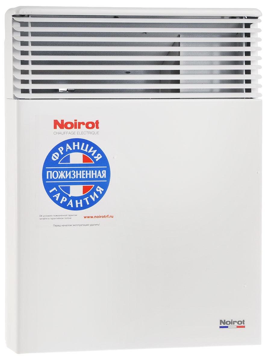 Noirot Spot E-5 750W обогревательHYH1172FDFSNoirot Spot E-5 — это электрический обогреватель конвективного типа. Вся конструкция направлена на равномерное распределение тепла для обогрева с максимальным комфортом. Конвектор работает по принципу естественной конвекции. Холодный воздух, проходя через прибор и его нагревательный элемент, нагревается и выходит сквозь решетки-жалюзи, незамедлительно начиная обогревать помещение. Конструктивные особенности конвекторов серии Spot E-5 исключают возникновение посторонних шумов при нагреве и остывании электрических обогревателей и гарантируют полную безопасность в эксплуатации (отсутствие острых углов, нагрев поверхности не выше 60°С). Обогреватели серии оснащены электронным цифровым термостатом ASIC, который поддерживает температуру с точностью до 0,1°С. Высокая точность поддержания температуры приводит к экономии электроэнергии, увеличению срока службы прибора и созданию максимального комфорта в помещении без скачков температуры. ...