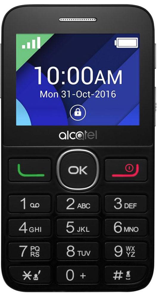 Alcatel 2008G, Black Metal Silver2008G-3BALRU1Мобильный телефон Alcatel 2008G с поддержкой Bluetooth. Модель имеет ЖК-экран с диагональю 2,4 и разрешением 320х240 точек. Телефон оснащен встроенным аудиоплеером и FM радиоприемником. Кроме этого телефон оснащен кнопкой SOS. Телефон сертифицирован EAC и имеет русифицированную клавиатуру, меню и Руководство пользователя.