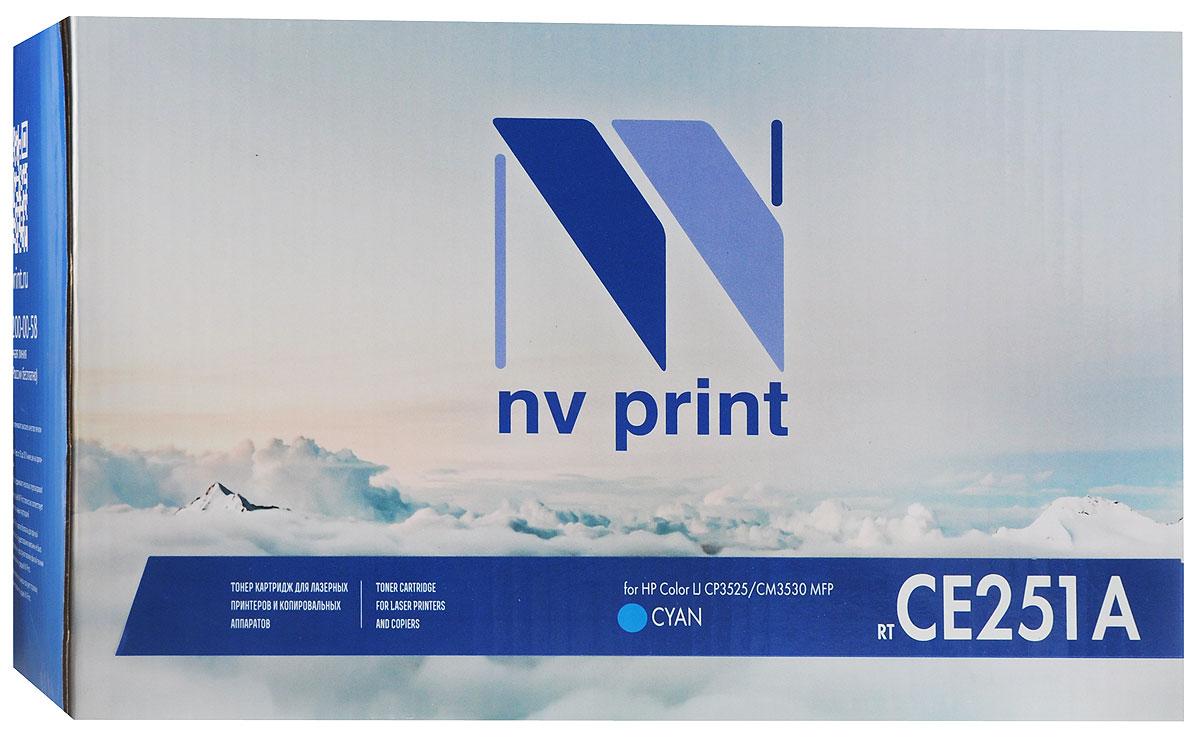 NV Print CE251A, Cyan тонер-картридж для HP Color LaserJet CP3525/CM3530 MFPCE251ACСовместимый лазерный картридж NV Print CE251A для печатающих устройств HP - это альтернатива приобретению оригинальных расходных материалов. При этом качество печати остается высоким. Лазерные принтеры, копировальные аппараты и МФУ являются более выгодными в печати, чем струйные устройства, так как лазерных картриджей хватает на значительно большее количество отпечатков, чем обычных. Для печати в данном случае используются не чернила, а тонер.