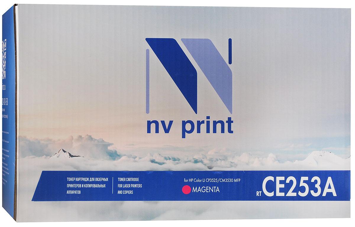NV Print CE253A, Magenta тонер-картридж для HP Color LaserJet CP3525/CM3530 MFPCE253AMСовместимый лазерный картридж NV Print CE253A для печатающих устройств HP - это альтернатива приобретению оригинальных расходных материалов. При этом качество печати остается высоким. Лазерные принтеры, копировальные аппараты и МФУ являются более выгодными в печати, чем струйные устройства, так как лазерных картриджей хватает на значительно большее количество отпечатков, чем обычных. Для печати в данном случае используются не чернила, а тонер.