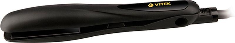 Vitek VT-8402 BK выпрямитель для волосVT-8402(BK)Выпрямитель для волос Vitek VT-8402 BK справится даже с самым непослушными волосами. Данная модель оснащена качественным керамическим турмалиновым покрытием пластин. Выпрямитель прост в использовании благодаря стильному эргономичному дизайну. Защита от перегрева Индикация включения Размер пластин: 90 мм х 30 мм