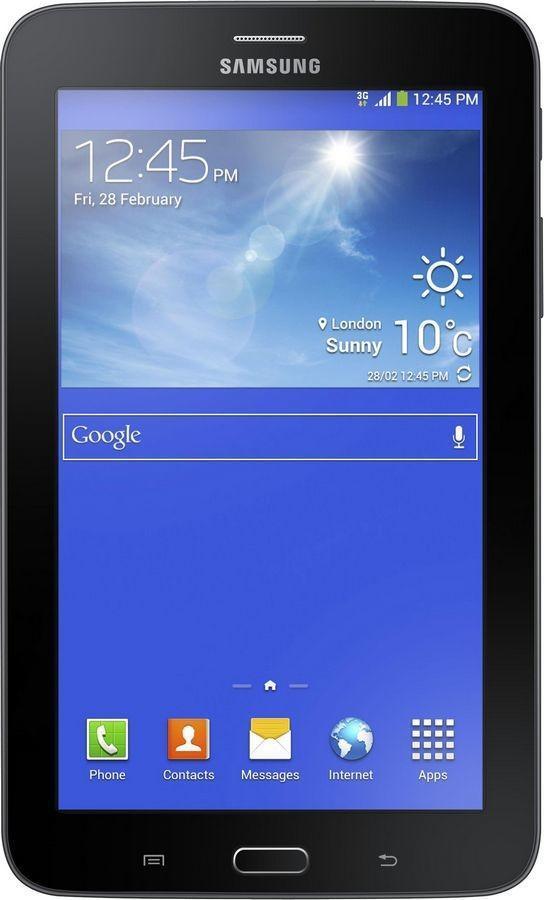 Samsung Galaxy Tab 3 Lite SM-T116, Ebony BlackSM-T116NYKASERПланшет Samsung Galaxy Tab 4 Lite доступен по демократичной цене, особенно приятной для устройства данной марки. Это бюджетный вариант предыдущей, третьей, версии девайса, не уступающий ей в функциональности. Модель качественно собрана, оснащена семидюймовым дисплеем с разрешением 1024х600 пикселей и производительным двухъядерным процессором. Она предназначена для комфортного веб-серфинга, общения, развлечений и станет отличным выбором для активного пользователя Планшет сертифицирован Ростест и имеет русифицированный интерфейс, меню и Руководство пользователя.