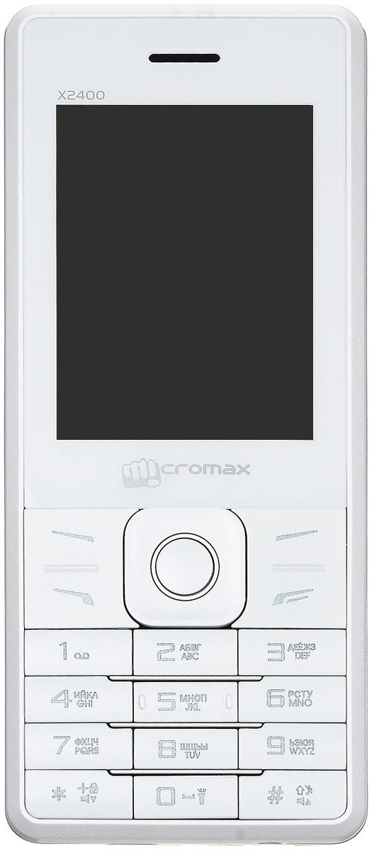 Micromax X2400, WhiteMicromax X2400 WhiteПодчеркните свой стиль телефоном Micromax X2400. Сами задавайте моду благодаря элегантной кожаной отделке устройства! Ведь главное в Micromax X2400 - это стиль! Наслаждайтесь видео на 2,4-дюймовом дисплее Micromax X2400. Успевайте больше с мощной батареей на 2800 мАч. Фотографируйте памятные моменты, друзей и родных на 0,3-мегапиксельную камеру телефона. Фильмы, песни и радио! С Micromax X2400 скучно не будет. Записывайте веселые разговоры с помощью Micromax X2400 и храните приятные воспоминания вечно! Micromax X2400 поддерживает карты памяти объемом до 8 ГБ - этого хватит на любимые видео, песни и изображения! Работа и личная жизнь в одном телефоне? Легко! Micromax X2400 поддерживает сразу две SIM-карты. Телефон сертифицирован EAC и имеет русифицированную клавиатуру, меню и Руководство пользователя.