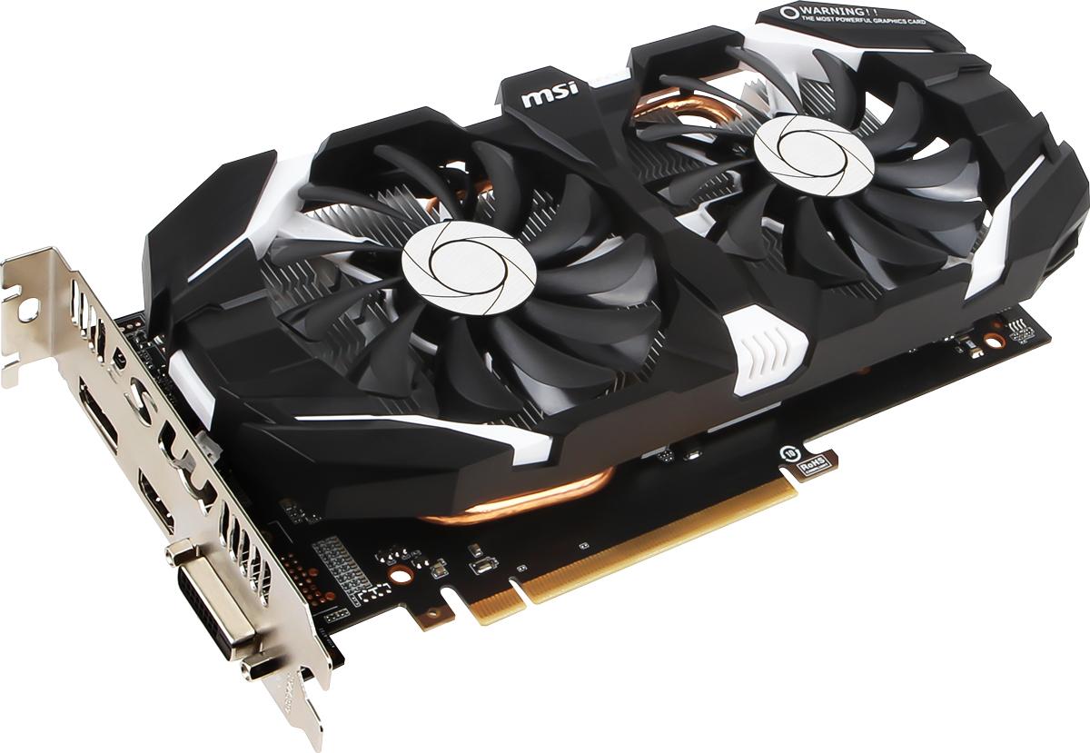 MSI GeForce GTX 1060 3GT OC 3GB видеокартаGTX 1060 3GT OCMSI GeForce GTX 1060 3GT OC демонстрирует наивысшую производительность и поддерживает передовые технологии NVIDIA GameWorks и GeForce Experience в самых современных компьютерных играх. Видеокарта GTX 1060 на основе графического ядра Pascal демонстрирует высочайшую производительность и энергоэффективность, а такие особенности как, ультра-быстрые транзисторы FinFET и поддержка DirectX 12, способствуют плавному геймплею и высокой скорости в играх. Ядро Pascal разработано специально для работы с дисплеями следующего поколения, включая решения для виртуальной реальности, ультра-высокое разрешение и подключение нескольких мониторов. Технологии NVIDIA GameWorks обеспечивают максимально плавный геймплей и кинематографическое качество. Кроме этого, становится возможным осуществлять захват видео с революционно новыми возможностями - углом обзора 360 градусов. Откройте для себя новое поколение виртуальной реальности, минимальные задержки и...