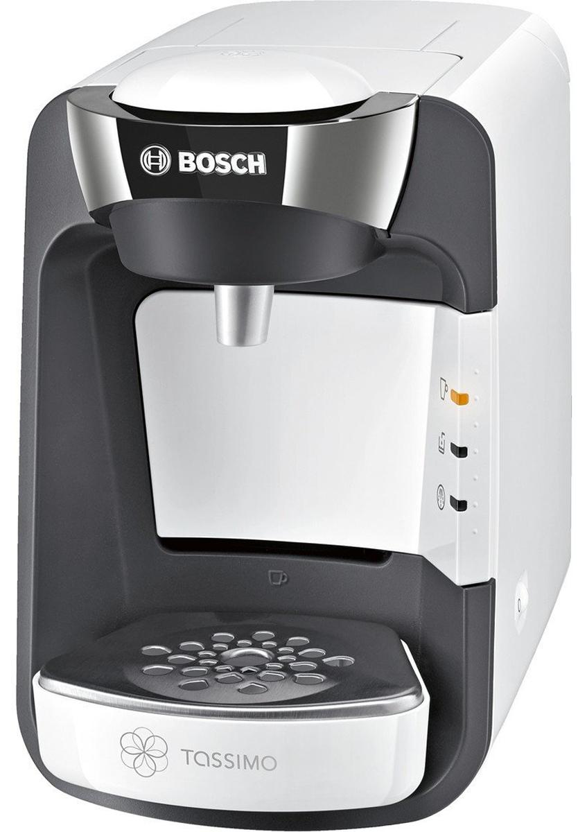 Bosch TAS3204, White кофеваркаTAS3204Когда ваши любимые напитки нужно приготовить быстро, Bosch TAS3204 — неизменно правильный выбор. Достаточно вставить Т-диск, прижать чашку к кнопке Smart Start и просто наблюдать, как Bosch TAS3204 всего за несколько минут приготовит кофе, чай, шоколад и другие напитки самых разных сортов. Благодаря элегантному дизайну и компактным размерам Bosch TAS3204 станет стильным дополнением вашего дома и будет готовить изысканные напитки почти мгновенно, радуя вас и ваших гостей. Кофемашина Bosch TAS3204 считывает штрих-код, нанесенный на каждую капсулу (Т-диск) и автоматически определяет точную информацию для приготовления идеального напитка: количество воды, время заваривания, температура. Достаточно взять T-диск, вставить в блок заваривания и нажать на кнопку. Напиток готов. Bosch TAS3204 имеет проточный водонагреватель, который обеспечивает быструю готовность к работе, оптимальный режим приготовления выбранного напитка, а также являются...