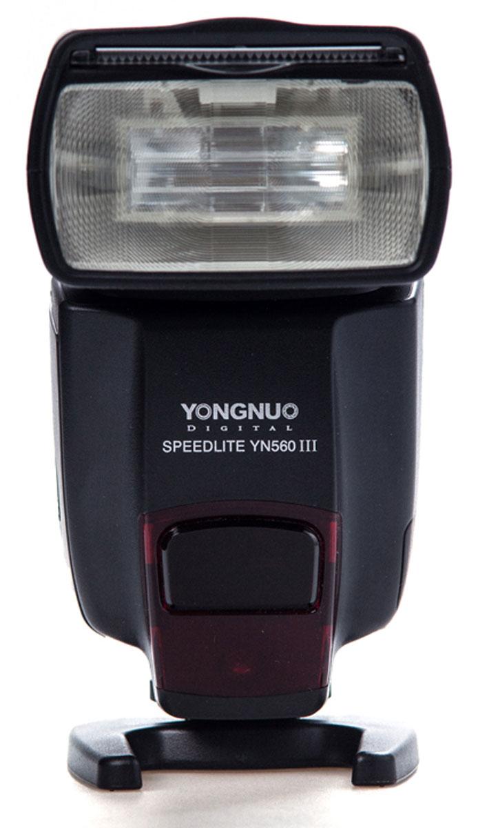 YongNuo Speedlite YN-560III вспышка со встроенным радиосинхронизатором для Canon, Nikon, Pentax, Olympus, SonyYN-560IIIУниверсальная фотовспышка Yongnuo Speedlite YN-560III - это обновленная версия популярнейшей вспышки модели YN-560II от компании Yongnuo. Она имеет полную совместимость с радио-триггерами моделей Yongnuo RF-603 и RF- 602. Ее основным преимуществами является наличие поддержки ультра длинных беспроводных частот 2,4 ГГц, а также новый мультифункциональный LCD дисплей, множество режимов освещения и комфортный индикатор заряда батареи. Максимальное ведущее число вспышки Yongnuo Speedlite YN-560III имеет значению 58, а это значит, что вы сможете делать снимки на расстоянии 58 метров при условии выставленной светочувствительности ISO 100 и в положении зум-рефлектора 105 мм. Вспышка Yongnuo Speedlite YN-560III способна наклоняться в диапазоне от -7 до 90 градусов по вертикали, и поворачиваться в пределах от 0 до 270 градусов, благодаря чему вы получите небывалую гибкость во время процесса съемки и создания искусственного освещения. Цветовая...
