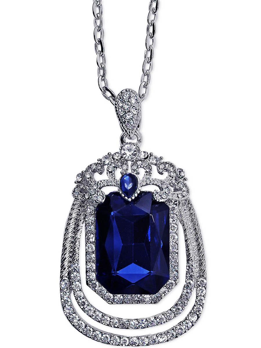 Колье Taya, цвет: серебристый, темно-синий. T-B-10273-NECK-SL.D.BLUET-B-10273-NECK-SL.D.BLUEНа длинной удобной цепи расположен кулон с крупным центральным кристаллом полуночно-синего цвета. Сверху кристалла коронка с маленькой синей капелькой, вокруг овальной формы филейное кружево со стразами. Очень мило и свежо. Размеры: длина цепи 73 см плюс удлинение 7,0 см, ширина цепи 0,2 см, длина кулона 6,0 см, ширина 3,5 см.