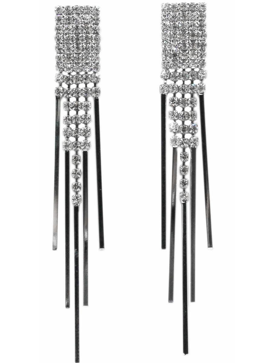 Серьги Taya, цвет: серебристый. T-B-10-EARR-SILVERT-B-10-EARR-SILVERСерьги-гвоздики с заглушкой металл-пластик. Элегантные лаконичные сережки со статичным прямоугольником сверху и подвижными полосками из серебряного металла. Размеры: длина серьги 8,0 см, ширина 1,0 см.