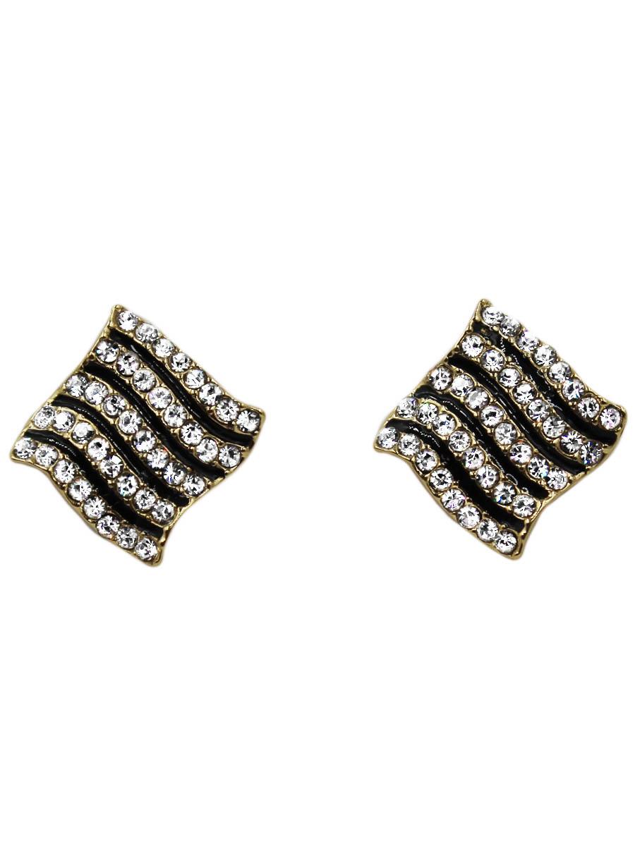 Серьги Taya, цвет: золотистый. T-B-10718-EARR-GOLDT-B-10718-EARR-GOLDОригинальные серьги модного дизайна создают яркий и запоминающийся образ. Размеры: 1,2*1,2