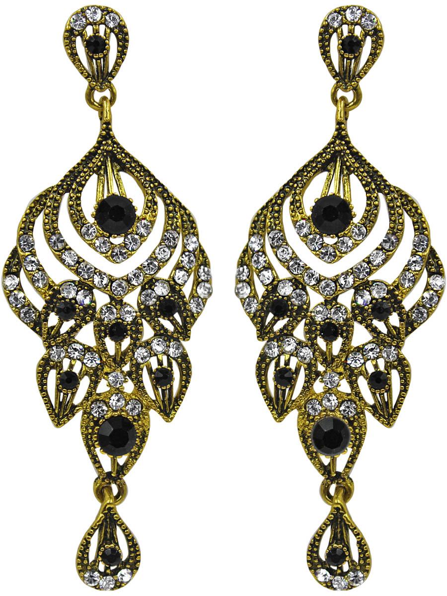 Серьги Taya, цвет: темное золото. T-B-11383-EARR-D.GOLDT-B-11383-EARR-D.GOLDСерьги-гвоздики с заглушкой металл-пластик изготовлены из гипоаллергенного бижутерного сплава. Сережки выполнены из состаренного золотого металла, украшены кристальными и жгуче- черными стразами.