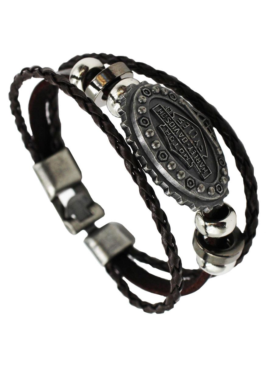 Браслет Taya, цвет: коричневый. T-B-11452-BRAC-BROWNT-B-11452-BRAC-BROWNБраслет сделан из трех кожаных полосок и серебряного овала в центре.