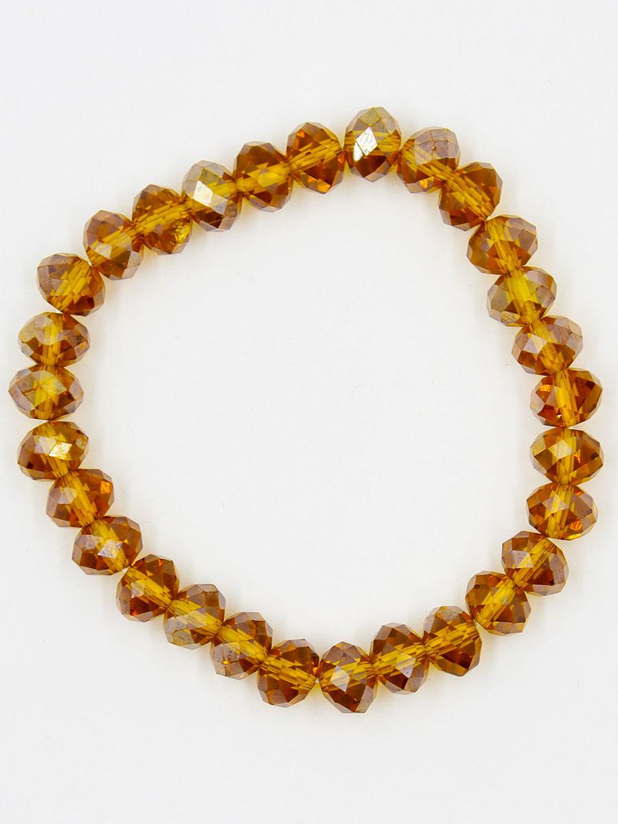 Браслет Taya, цвет: золотистый. T-B-11777-BRAC-GOLDT-B-11777-BRAC-GOLDУниверсальный однотонный браслет на резинке. Кристаллы ярко искрятся под любым освещением.