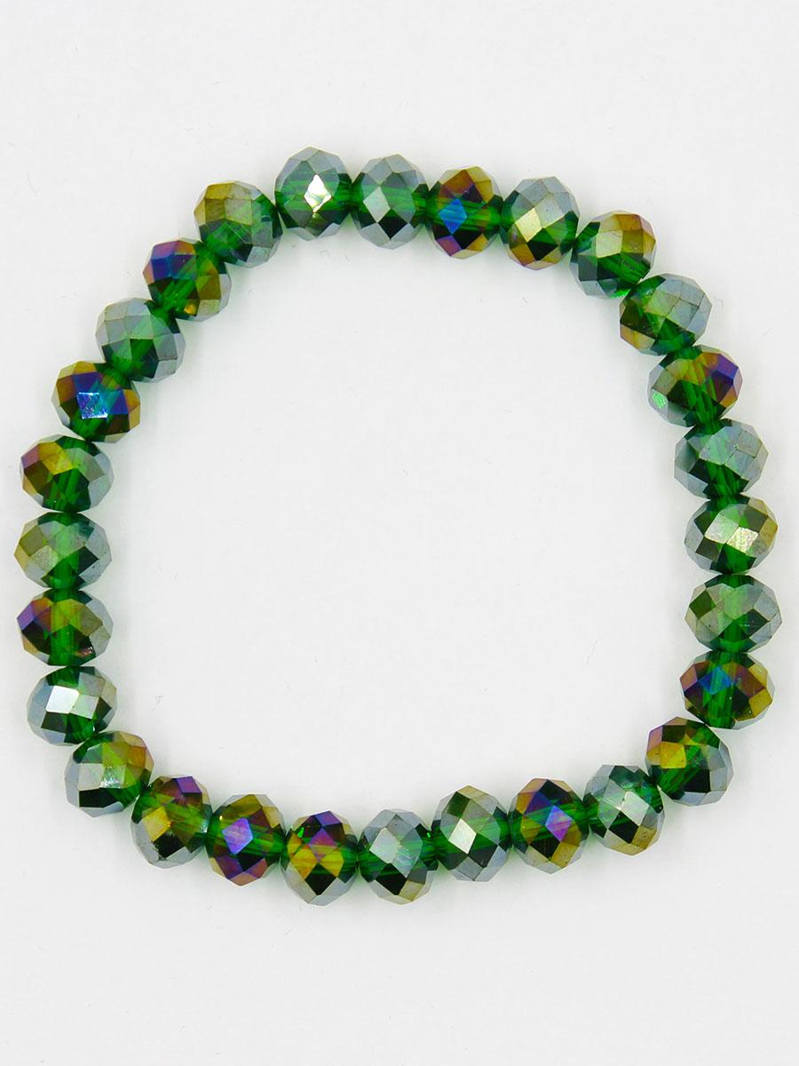 Браслет Taya, цвет: зеленый. T-B-11778-BRAC-GREENT-B-11778-BRAC-GREENСтильный браслет Taya выполнен из однотонных кристаллов. Элементы браслета соединены с помощью тонкой резинки, благодаря этому он легко одевается и снимается. Размер браслета универсальный.
