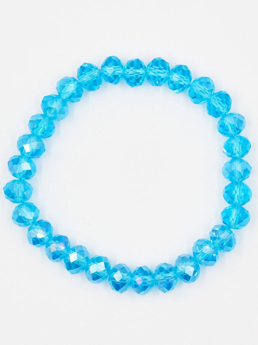 Браслет Taya, цвет: синий. T-B-11783-BRAC-BLUET-B-11783-BRAC-BLUEУниверсальный однотонный браслет на резинке. Огранка кристаллов идеальная. они ярко искрятся под любым освещением. Такой браслет можно носить с фирменными часами TAYA, а также с другими такими же браслетами в цветовой гамме.