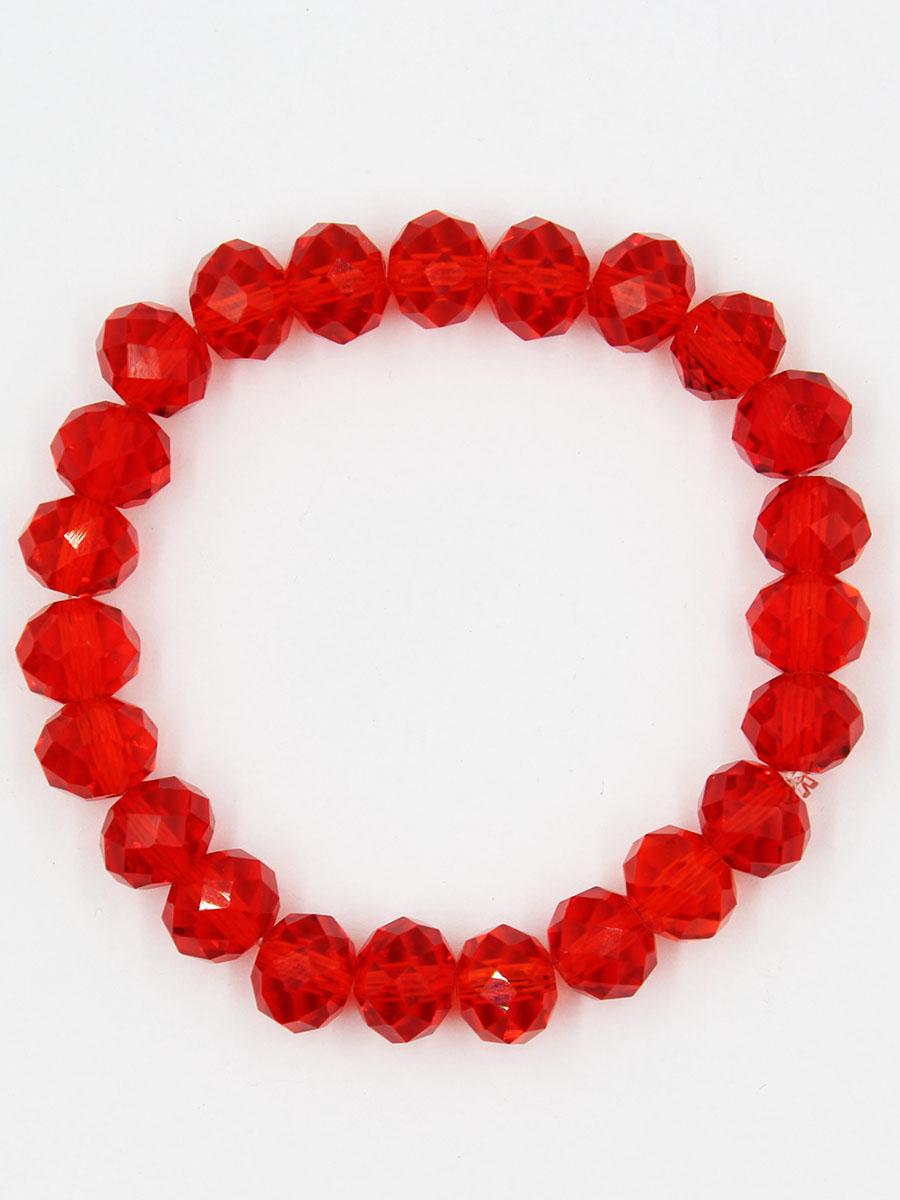 Браслет Taya, цвет: красный. T-B-11787-BRAC-REDT-B-11787-BRAC-REDУниверсальный однотонный браслет на резинке. Кристаллы ярко искрятся под любым освещением.