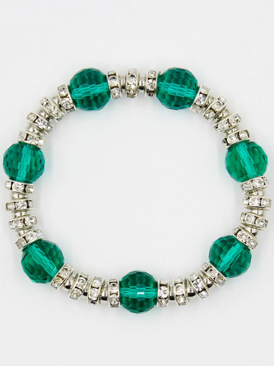 Браслет Taya, цвет: зеленый. T-B-11919-BRAC-GREENT-B-11919-BRAC-GREENУниверсальный браслет на резинке. Можно носить его как дополнение к часам или к другим браслетам TAYA.