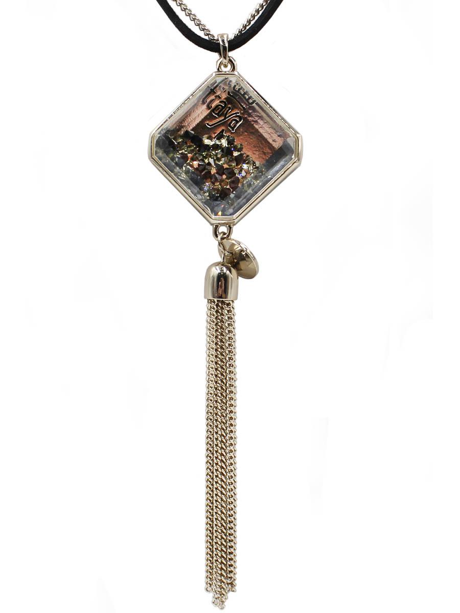 Колье Taya, цвет: светлое золото, черный. T-B-12103-NECK-BK.L.GOLDT-B-12103-NECK-BK.L.GOLDФирменный кулон TAYA на двойной цепи из металла и текстиля. Размеры: длина цепи 66,0 см, кулон 2,7 х 2,7 см, подвеска-цепочки 8,5 см.