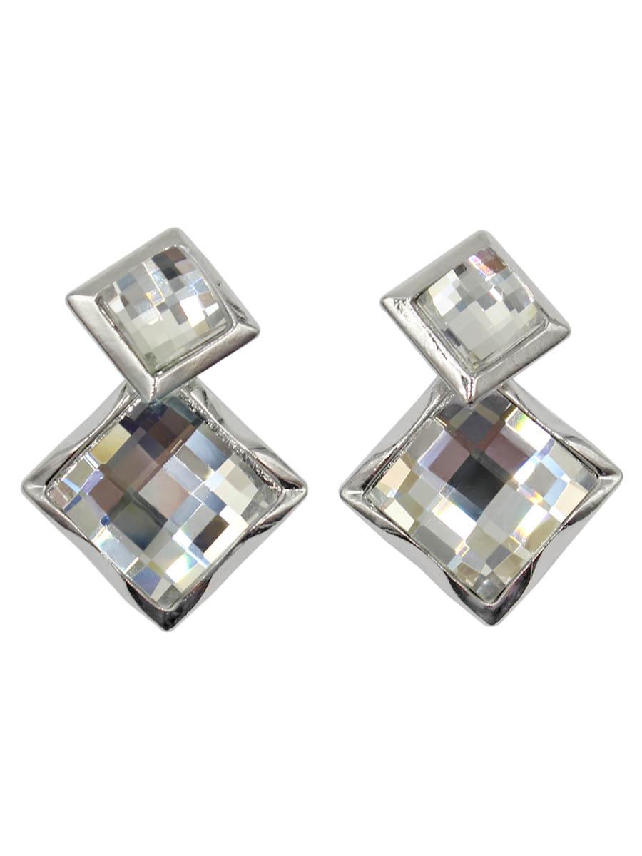 Серьги Taya, цвет: серебристый. T-B-12222-EARR-SILVERT-B-12222-EARR-SILVERСерьги-гвоздики с заглушкой металл-пластик. Два квадратных мозаичной огранки кристалла помещены в волнистую рамку. Такое сочетание придает серьгам некую игривость: строгая форма и мягкая, неровная рамка. Размеры: длина серег 3,5 см, верхний квадрат 1,2 х 1,2 см, нижний 1,7 х 1,7 см.