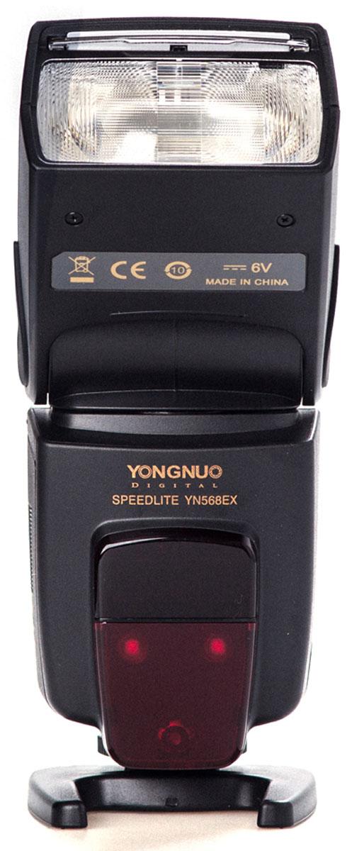 YongNuo Speedlite YN-568EX вспышка для NikonYongNuo YN-568EX NikonВспышка YongNuo Speedlite YN-568EX для Nikon – это мощный инструмент для управления светом, способный не просто улучшить качество фотографии, но и дающий возможность проявлять фантазию при создании снимков. Для наиболее качественного результата вспышка совместима с I-TTL-режимом камер Nikon. Его особенностью является возможность делать замер экспозиции через объектив (Test Throught Lens). Для этого YN-568EX посылает оценочный импульс и только после получения данных об освещенности снимаемого объекта срабатывает основной импульс, являющийся точно выверенным. Несомненным плюсом этой вспышки также является возможность скоростной работы в режиме HSS/FP. Модель без проблем работает с аппаратом даже на очень коротких выдержках до 1/8000 сек., тогда как при работе с менее дорогими аксессуарами на кадрах могут появляться нежелательные тени от ламелей затвора, не успевшего отъехать.