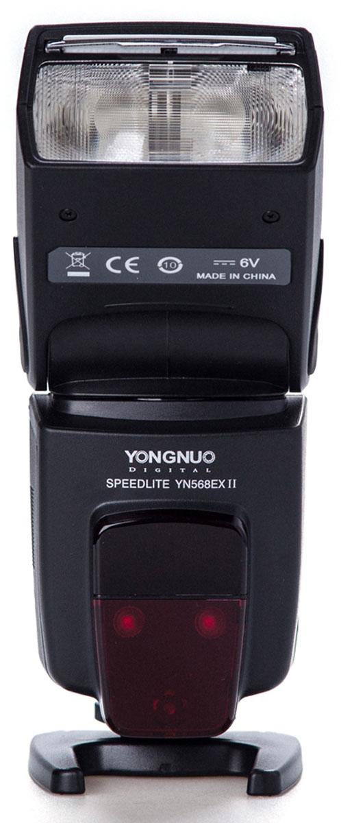YongNuo Speedlite YN-568EXII вспышка для CanonYN-568EXIICЕсли появилось ощущение, что встроенной вспышки на зеркалке уже не хватает, значит пришла пора для покупки YongNuo Speedlite YN-568EX ll для Canon. Эта мощная и функциональная вспышка станет незаменимым помощником при создании живого и естественного освещения на фотографиях. Ведущее число 58 при ISO говорит о высокой мощности и готовности справится с поставленными задачами, даже если объект съемки находится на значительном расстоянии и плохо освещен. В таких условиях не будет лишней и подсветка автофокуса, которая поможет фотоаппарату навестись на резкость, а выставить верные параметры поможет большой и четкий дисплей, также не лишенный полезной функции подсветки. Большое количество режимов работы открывает неограниченные возможности творить. Вспышка полностью поддерживает E-TTL/E-TTL2. В ручном режиме ее мощность имеет очень точную настройку, а при использовании Master Flash – поддерживает беспроводное TTL-управление другими вспышками. Стоит...