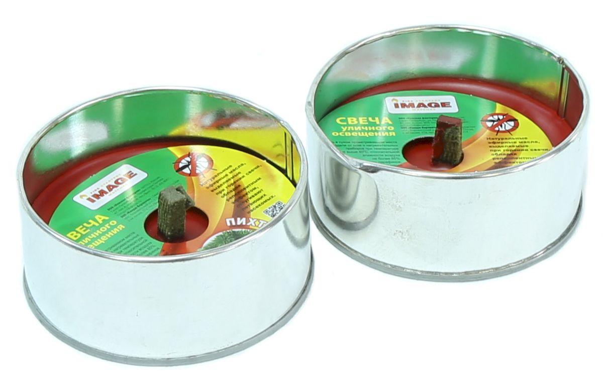Свеча уличного освещения Image Пихта, антимоскитная, 2 шт40601-1Используются для освещения и придания уютной обстановки на даче, на открытом воздухе, в походе, на пикниках, для освещения дорожек на участках или около палаток, в беседках или при отсутствии света. Любое применение в виде освещения на открытом воздухе или помещении. Обладает эффектом для отпугивания комаров и мошек. Р-р одной банки: O 98х45 мм. Состав: упаковка из жестяной банки, парафин, фитиль.
