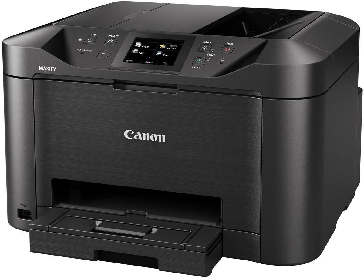 Canon Maxify MB5140 (0960C007) МФУ0960C007Canon Maxify MB5140 - полнофункциональный принтер, сканер, копир и факс, разработанный для небольших офисных пространств, в которых требуется монохромная и цветная печать высокого качества с низкими эксплуатационными расходами. Пигментные чернила DRHD, устойчивые к стиранию и маркерам, позволяют получать насыщенные оттенки черного, яркие цвета и четкий текст. Устройство Canon Maxify MB5140 выполняет печать формата A4 со сверхвысокой скоростью 24 изображения в минуту в монохромном режиме и 15,5 изображений в минуту в цветном режиме, а также выводит первую страницу (FPOT) всего за 6 секунд, тогда как двустороннее сканирование за один проход обеспечивает непревзойденную скорость сканирования. Основной особенностью этого устройства является его экономичность — от низкого потребления энергии всего 0,2 кВт/ч (обычное потребление энергии) до цветных картриджей с возможностью индивидуальной замены. Черные картриджи имеют ресурс 2500 страниц в соответствии со...