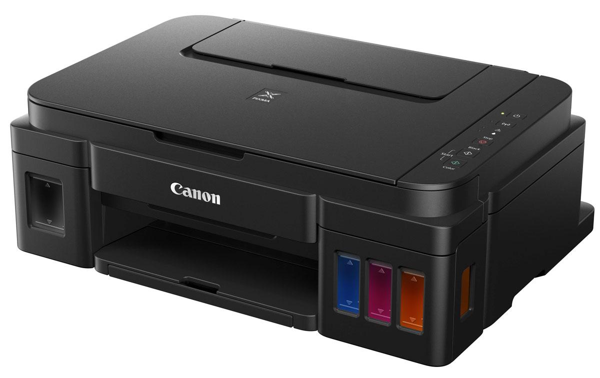 Canon PIXMA G3400 МФУ0630C009Многофункциональный принтер с поддержкой Wi-Fi и облачных приложений, оснащенный чернильницами с увеличенным ресурсом подходит для высококачественной и экономичной печати документов и фотографий дома и в офисе. Сетевая печать, копирование и сканирование в больших объемах: Благодаря встроенной функции Wi-Fi устройство PIXMA G3400 идеально подходит для печати документов и фотографий дома, в домашнем офисе или в небольших организациях. Многофункциональное устройство отличается непревзойденными показателями объемов печати: цветная — 7000 страниц. Черно-белая печать — 6000 страниц. Вы сможете значительно сэкономить на печати. Приложение Canon PRINT / печать по Wi-Fi: Вы сможете без труда печатать с любого устройства, ведь PIXMA G3400 имеет функцию Wi-Fi, которая обеспечивает беспроводную печать с ПК и мобильных устройств через приложение Canon PRINT. Вам не придется устанавливать новое программное обеспечение для моментальной печати. ...