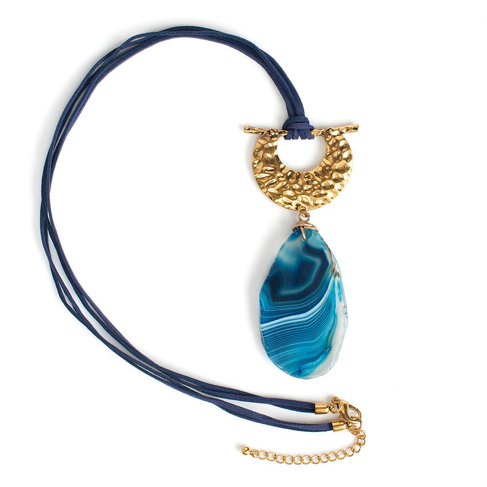Колье Selena, цвет: золотистый, синий, фиолетовый. 1010154110101541
