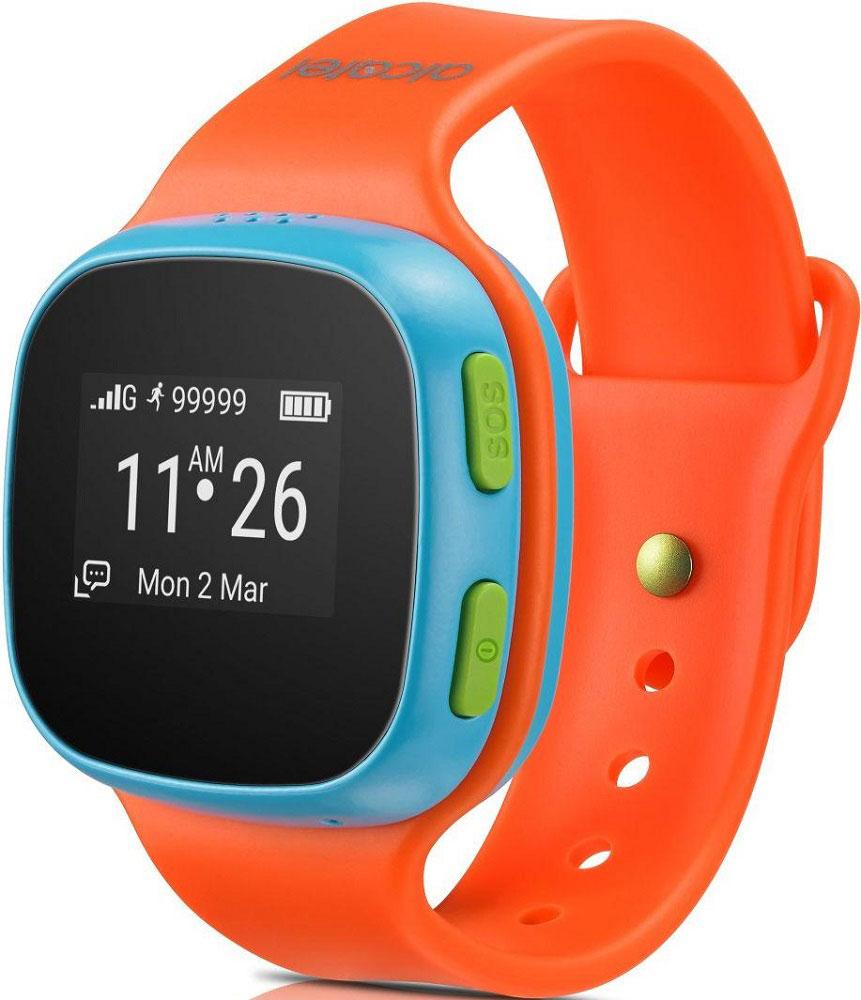 Alcatel SW10 MoveTime, Blue Orange детские часы-телефон4894461383347Alcatel SW10 MoveTime - персональное наручное электронное устройство для для детей возраста от 5 до 9 лет. Данная модель выполнена в пластиковом жестком корпусе. Корпус защищен от пыли и водных струй по классу защиты IP65. Батарея обеспечивает их длительную работоспособность - до 4 дней. Отдельно выведенная кнопка SOS позволит совершить экстренный вызов. Alcatel SW10 MoveTime - помощник в родительском контроле. Родители могут звонить или отправлять голосовые сообщения своим детям. Дети могут совершать звонки на предустановленные SOS-контакты (до 10). Это позволит оградить ребенка от случайных и нежелательных входящих звонков. Общение ребенка через устройство можно ограничить пятью близкими людьми. Через специализированное приложение для смартфона, совместимое с iOS 7 и выше и Android 4.3 и выше, родители могут отслеживать местоположение своих детей и получать уведомления, когда дети приходят в школу или другую предустановленную безопасную зону....