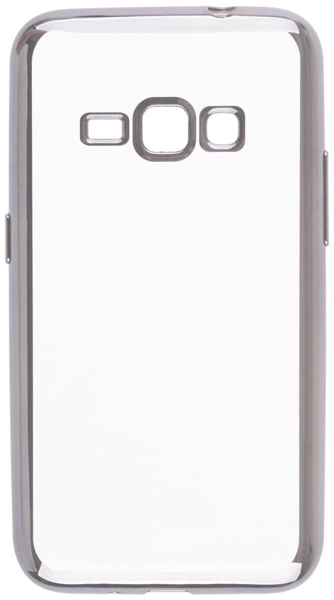 Skinbox 4People Silicone Chrome Border чехол-накладка для Samsung Galaxy J1 (2016), Silver2000000105406Чехол Skinbox 4People Silicone Chrome Border надежно защищает ваш смартфон от внешних воздействий, грязи, пыли, брызг. Он также поможет при ударах и падениях, не позволив образоваться на корпусе царапинам и потертостям. Чехол обеспечивает свободный доступ ко всем функциональным кнопкам смартфона и камере.