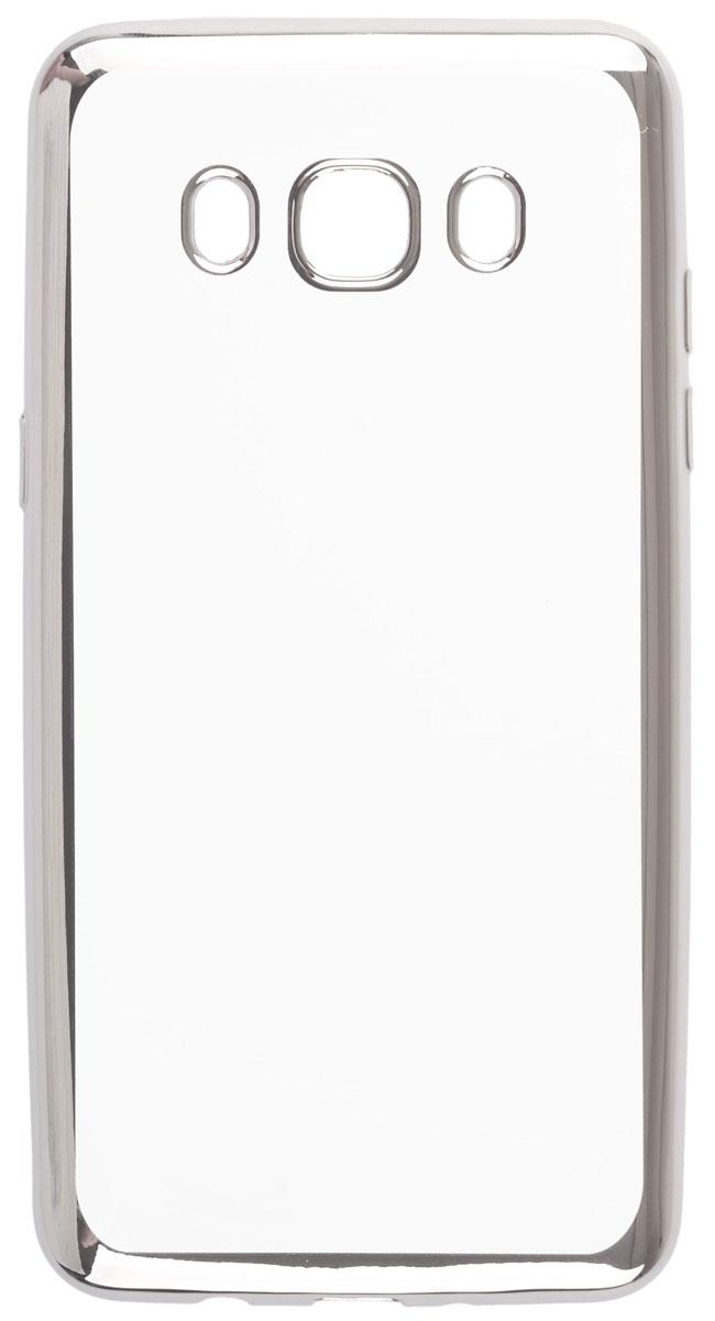 Skinbox 4People Silicone Chrome Border чехол-накладка для Samsung Galaxy J5 (2016), Dark Silver2000000105482Чехол Skinbox 4People Silicone Chrome Border надежно защищает ваш смартфон от внешних воздействий, грязи, пыли, брызг. Он также поможет при ударах и падениях, не позволив образоваться на корпусе царапинам и потертостям. Чехол обеспечивает свободный доступ ко всем функциональным кнопкам смартфона и камере.