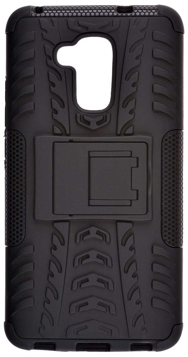 Skinbox Defender case чехол-накладка для Huawei Honor 5C, Black2000000111100Skinbox Defender case надежно защищает ваш смартфон от внешних воздействий, грязи, пыли, брызг. Он также поможет при ударах и падениях, не позволив образоваться на корпусе царапинам и потертостям. Чехол обеспечивает свободный доступ ко всем функциональным кнопкам смартфона и камере.