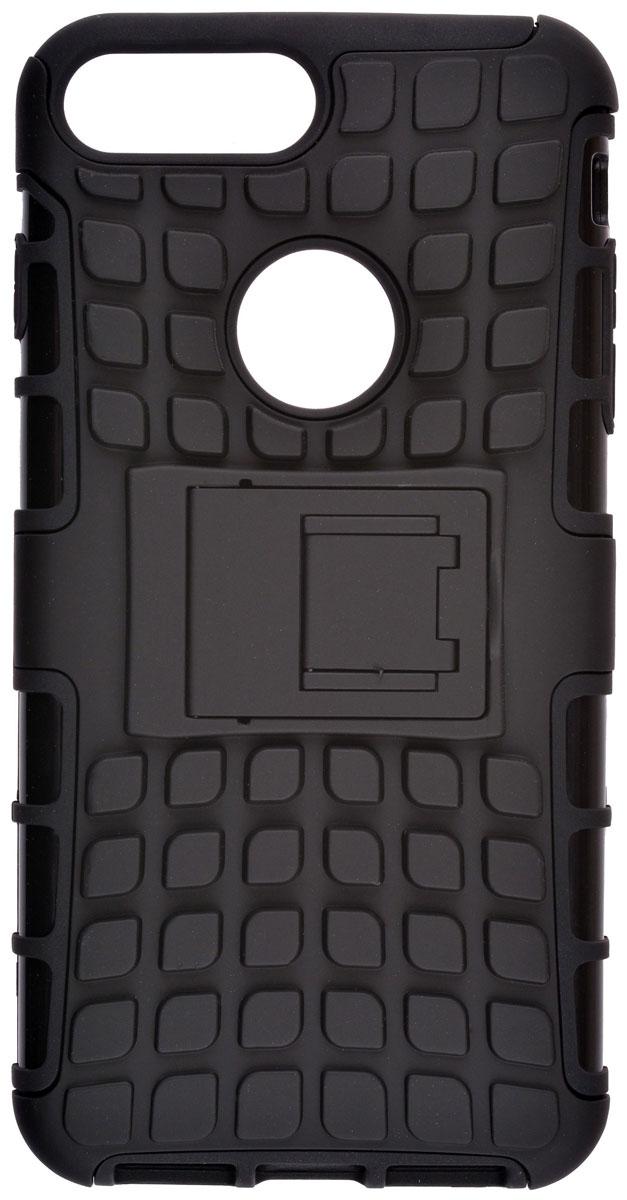 Skinbox Defender case чехол-накладка для Apple iPhone 7 Plus, Black2000000111216Skinbox Defender case надежно защищает ваш смартфон от внешних воздействий, грязи, пыли, брызг. Он также поможет при ударах и падениях, не позволив образоваться на корпусе царапинам и потертостям. Чехол обеспечивает свободный доступ ко всем функциональным кнопкам смартфона и камере.