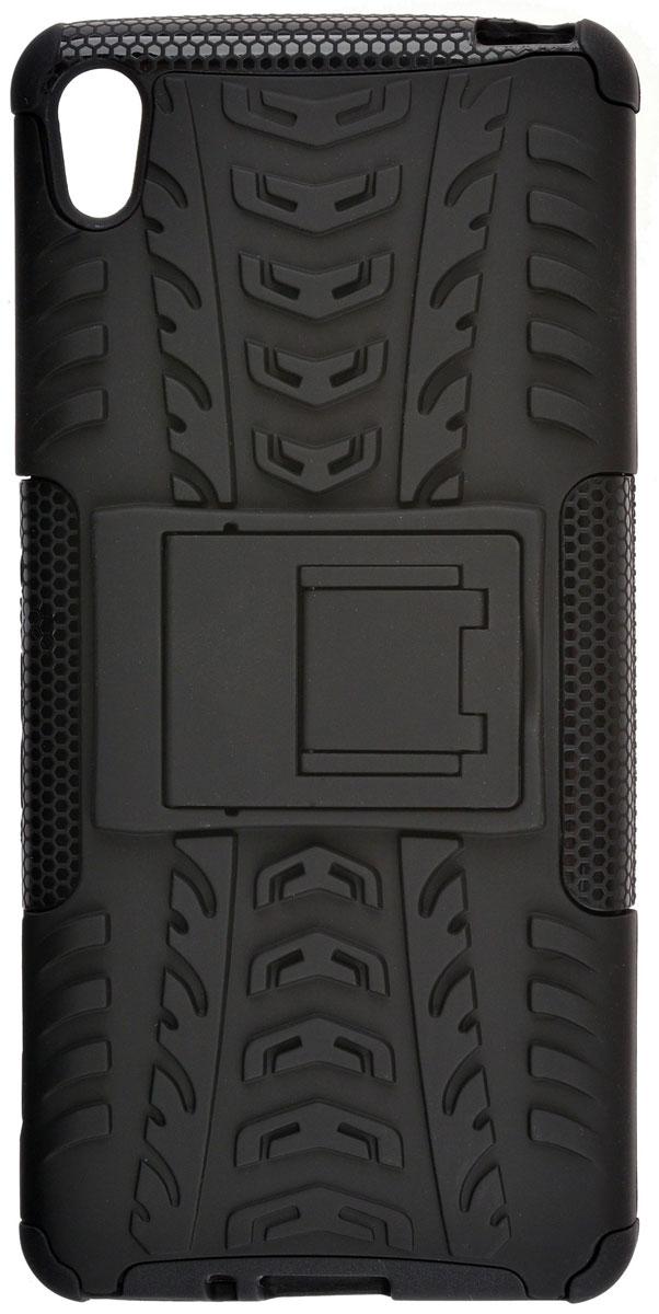 Skinbox Defender case чехол-накладка для Sony Xperia XA, Black2000000111018Skinbox Defender case надежно защищает ваш смартфон от внешних воздействий, грязи, пыли, брызг. Он также поможет при ударах и падениях, не позволив образоваться на корпусе царапинам и потертостям. Чехол обеспечивает свободный доступ ко всем функциональным кнопкам смартфона и камере.