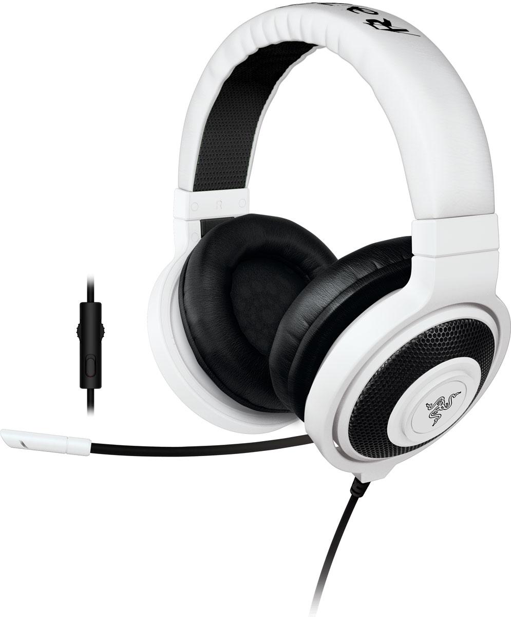 Razer Kraken Pro 2015, White игровые наушникиRZ04-01380300-R3M1Идеальное сочетание веса, практичности и качества, Razer Kraken Pro 2015 без сомнений является самой удобной игровой гарнитурой. Помимо высокого удобства носки, Razer Kraken Pro 2015 обладает полностью выдвижным микрофоном, встроенным колесиком регулировки громкости и кнопкой отключения микрофона, что максимально облегчает ее использование. Благодаря высококачественным динамикам большого размера эта полноразмерная гарнитура обеспечивает захватывающий игровой звук в течение многих часов. Разделительный кабель для комбинированного разъема на 3,5 мм обеспечивает поддержку микрофона на мобильных устройствах, а также возможность полноценного подключения к вашим игровым устройствам. Поэтому где бы вы не находились, вам никогда не придется менять гарнитуры. Игровая гарнитура Razer Kraken Pro, как и Razer Electra, была протестирована профессиональными геймерами и спортсменами, чтобы мы могли подобрать оптимальный вес для долгих игровых сессий и...